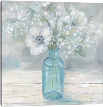 Vintage Jar Bouquet II Canvas Art Print