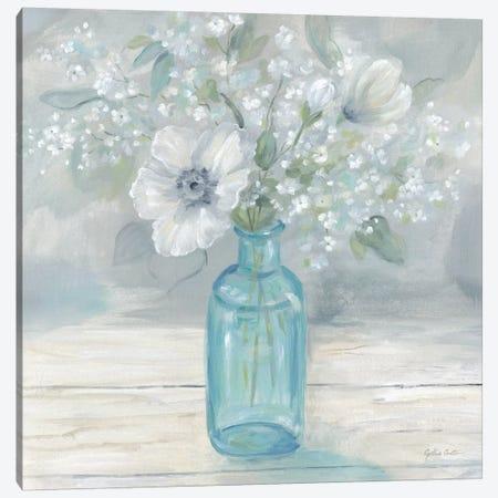 Vintage Jar Bouquet II Canvas Print #CYN166} by Cynthia Coulter Canvas Print