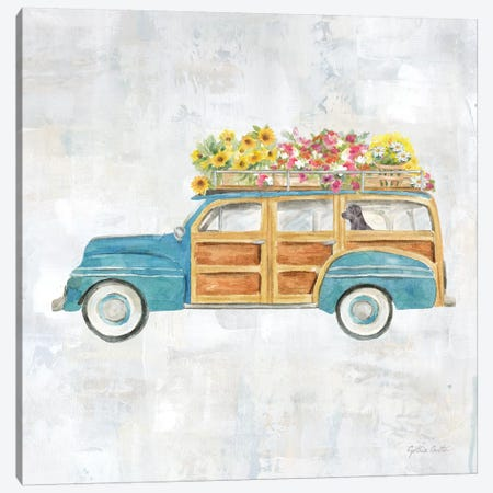 Vintage Station Wagon Canvas Print #CYN169} by Cynthia Coulter Canvas Wall Art