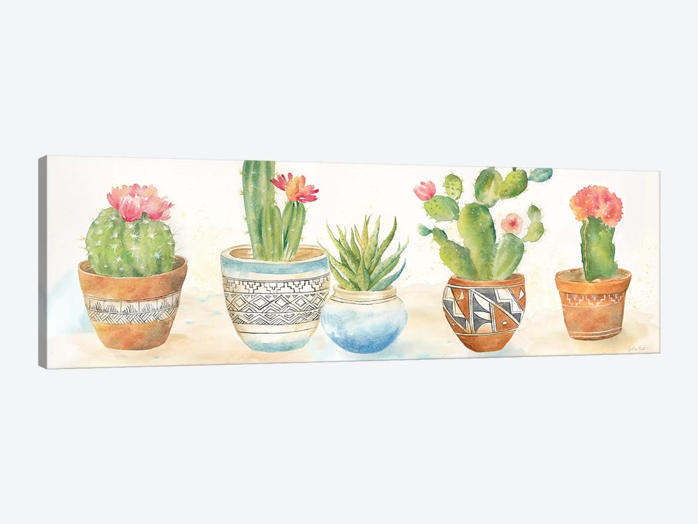 Cactus Pots I by Cynthia Coulter 1-piece Canvas Artwork