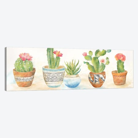 Cactus Pots I Canvas Print #CYN16} by Cynthia Coulter Canvas Wall Art