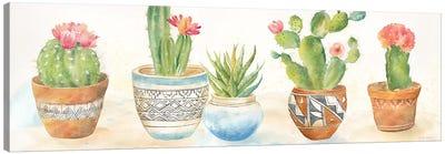 Cactus Pots I Canvas Art Print