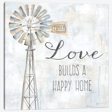 Windmill Love Sentiment Canvas Print #CYN172} by Cynthia Coulter Canvas Art Print