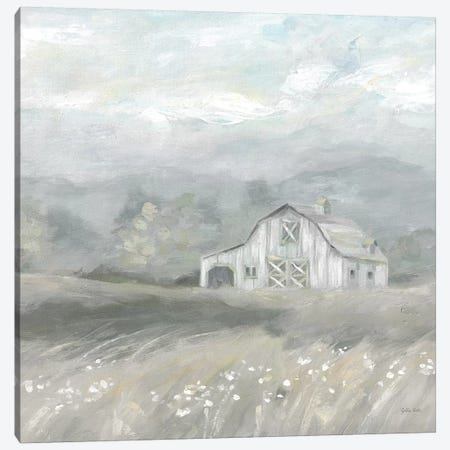 Country Meadow Farmhouse Neutral Canvas Print #CYN173} by Cynthia Coulter Art Print
