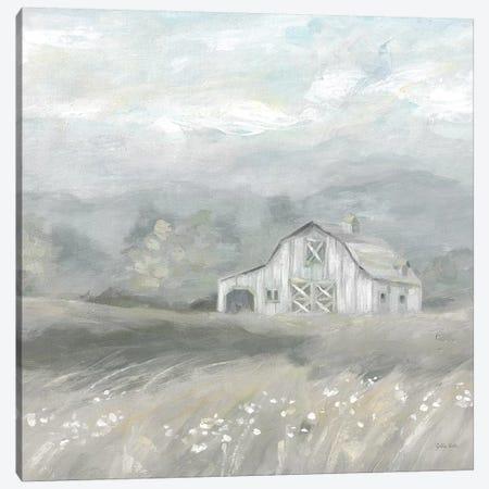 Country Meadow Farmhouse Neutral Canvas Print #CYN173} by Cynthia Coulter Art Print