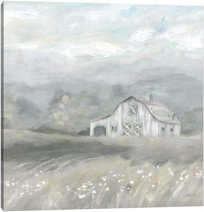 Country Meadow Farmhouse Neutral Canvas Art Print