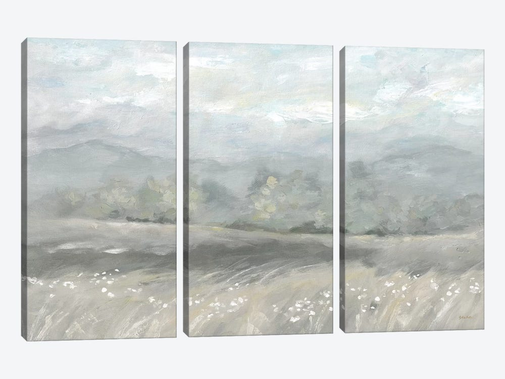 Country Meadow Landscape Neutral by Cynthia Coulter 3-piece Canvas Art