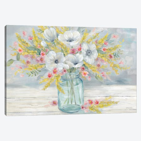 Farmhouse Bouquet  Canvas Print #CYN176} by Cynthia Coulter Canvas Artwork