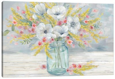 Farmhouse Bouquet  Canvas Art Print