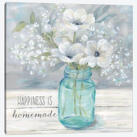 Vintage Jar Bouquet Sentiment I Canvas Print #CYN185} by Cynthia Coulter Art Print