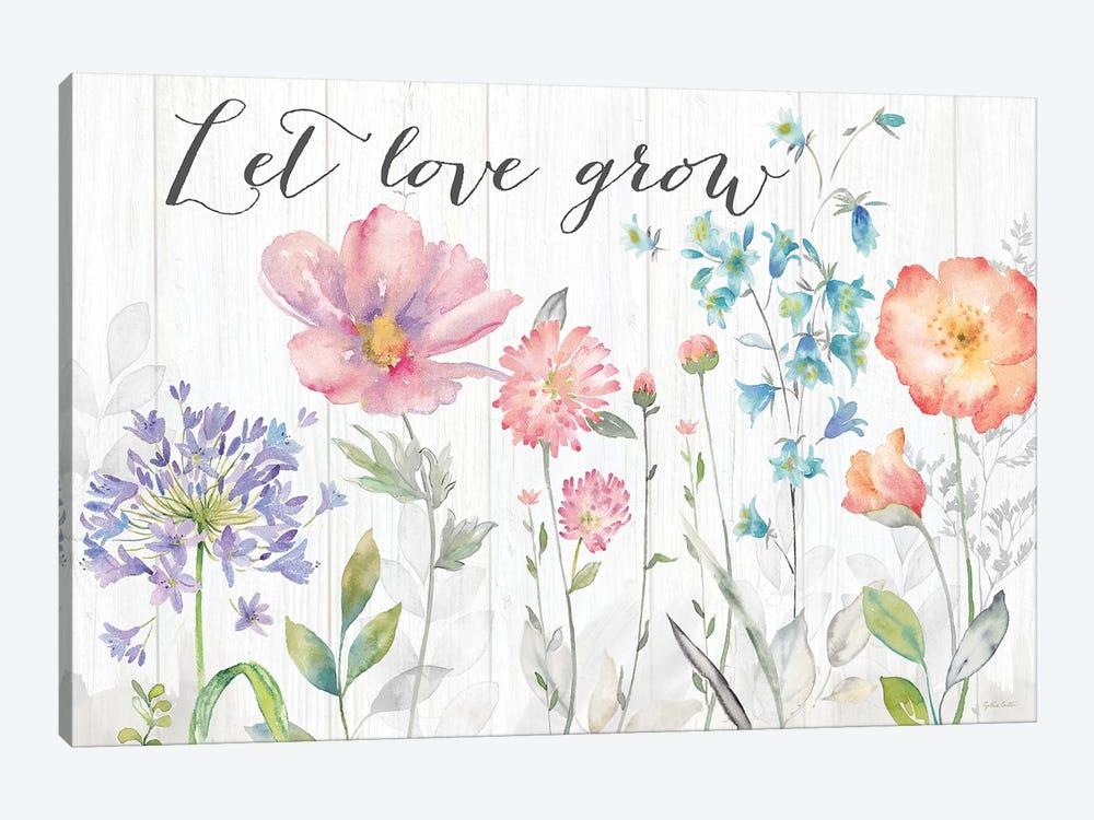 Farmhouse Botanical Garden Sentiment by Cynthia Coulter 1-piece Canvas Print