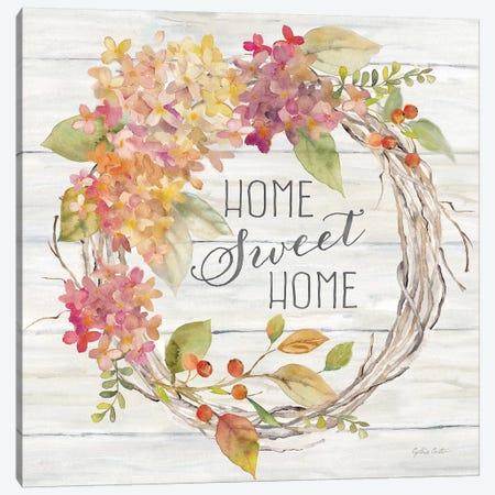 Farmhouse Hydrangea Wreath Spice I Home Canvas Print #CYN189} by Cynthia Coulter Canvas Artwork
