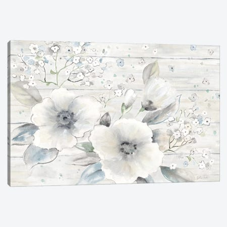 Vintage Bouquet on Wood landscape 3-Piece Canvas #CYN195} by Cynthia Coulter Canvas Art