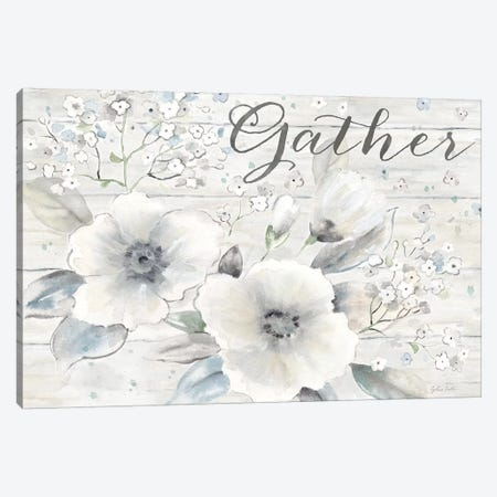 Vintage Bouquet on Wood Sentiment 3-Piece Canvas #CYN196} by Cynthia Coulter Canvas Art