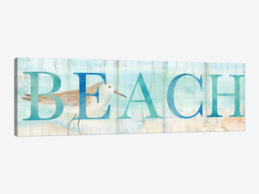 Beach Sandpiper Sign by Cynthia Coulter 1-piece Art Print