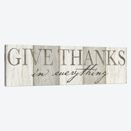 Give Thanks Neutral panel Canvas Print #CYN201} by Cynthia Coulter Art Print