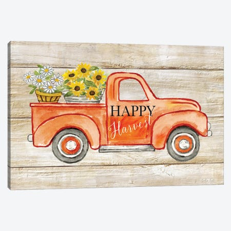 Happy Harvest I-Truck 3-Piece Canvas #CYN202} by Cynthia Coulter Art Print