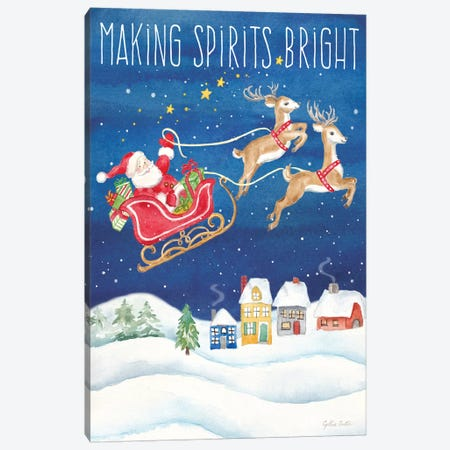 Making Spirits Bright portrait Canvas Print #CYN216} by Cynthia Coulter Canvas Art Print