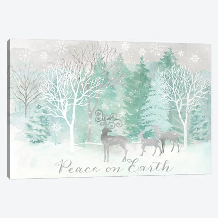 Peace on Earth Silver landscape Canvas Print #CYN220} by Cynthia Coulter Canvas Art Print