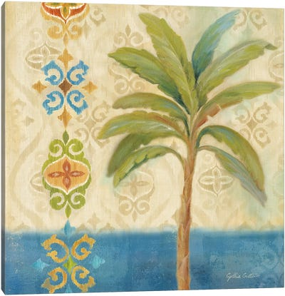 Ikat Palm I Canvas Art Print