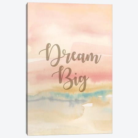 Dream Big Panel I Canvas Print #CYN23} by Cynthia Coulter Canvas Artwork