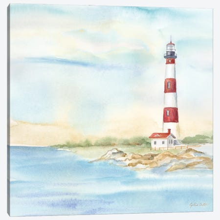 East Coast Lighthouse III Canvas Print #CYN256} by Cynthia Coulter Canvas Art Print