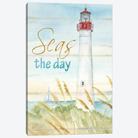 East Coast Lighthouse portrait II-Seas the day Canvas Print #CYN259} by Cynthia Coulter Canvas Artwork