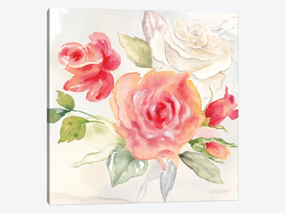 Garden Roses Ii Canvas Art Print By Cynthia Coulter Icanvas