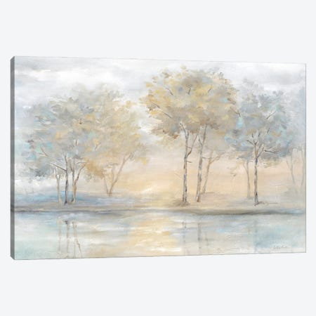 Serene Scene Trees landscape Canvas Print #CYN274} by Cynthia Coulter Art Print