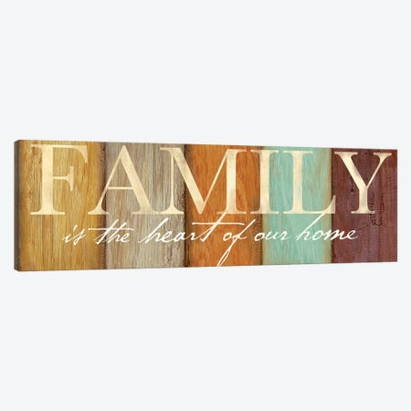 Family Sentiment Sign I Spice Canvas Print #CYN27} by Cynthia Coulter Canvas Art Print