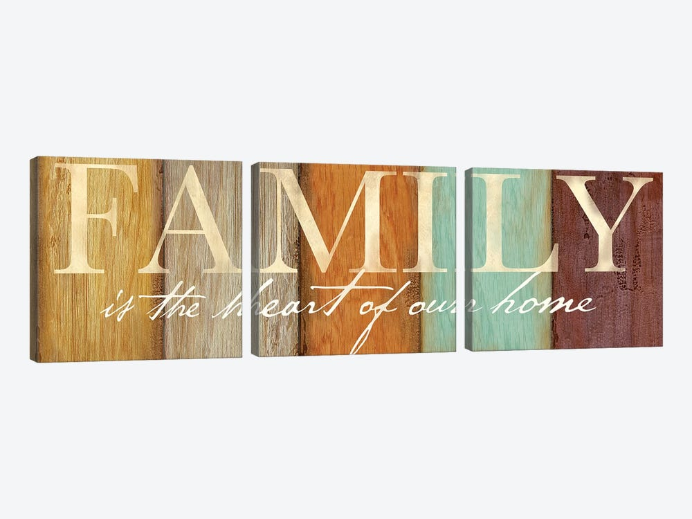 Family Sentiment Sign I Spice by Cynthia Coulter 3-piece Canvas Art