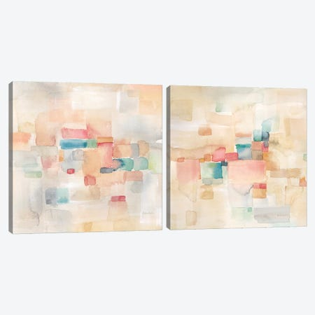 Desert Dreams Diptych Canvas Print Set #CYN2HSET002} by Cynthia Coulter Canvas Wall Art
