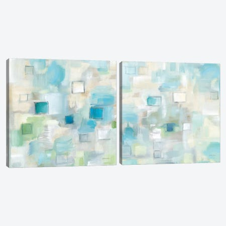Grid Ensemble Diptych Canvas Print Set #CYN2HSET003} by Cynthia Coulter Canvas Wall Art