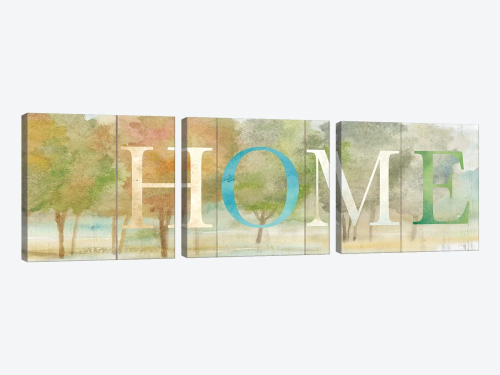 Home Rustic Landscape Sign by Cynthia Coulter 3-piece Art Print