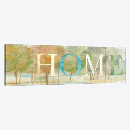 Home Rustic Landscape Sign 3-Piece Canvas #CYN33} by Cynthia Coulter Canvas Art Print