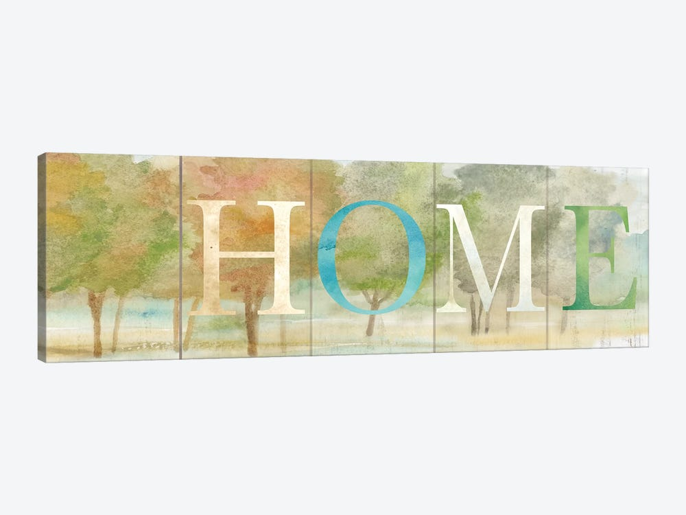 Home Rustic Landscape Sign by Cynthia Coulter 1-piece Canvas Print