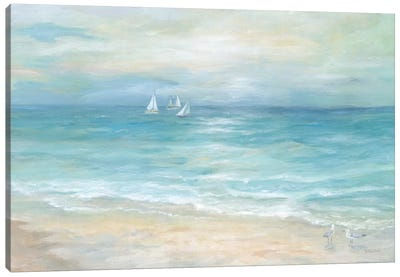 Island Beach Landscape Canvas Art Print