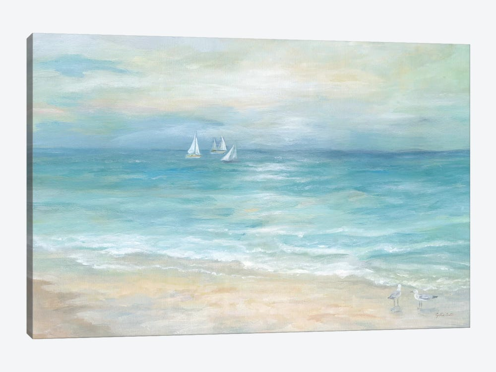 Island Beach Landscape by Cynthia Coulter 1-piece Canvas Wall Art