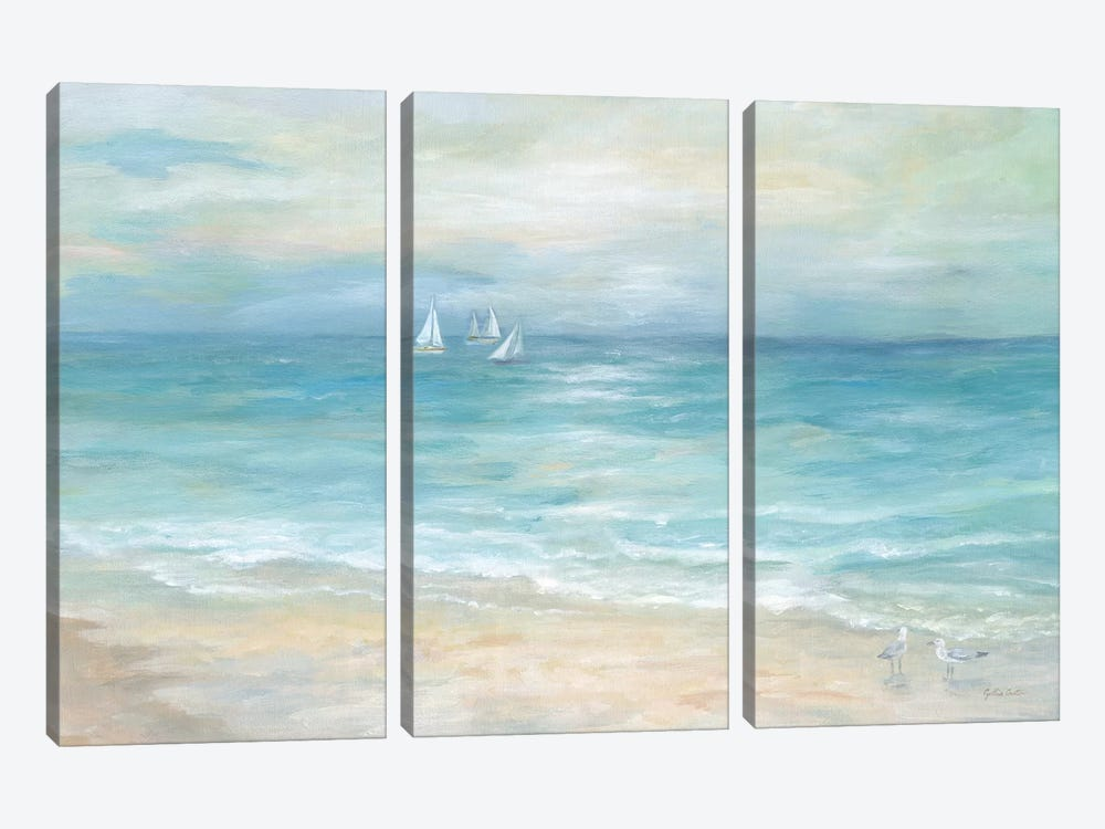 Island Beach Landscape by Cynthia Coulter 3-piece Canvas Art