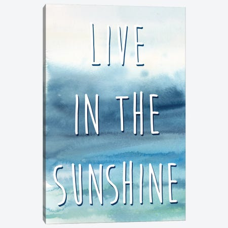 Live In The Sunshine Panel I Canvas Print #CYN35} by Cynthia Coulter Canvas Artwork