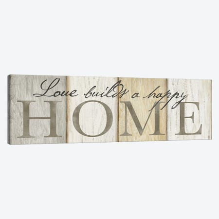 Love Builds Home Neutral Sign 3-Piece Canvas #CYN38} by Cynthia Coulter Art Print