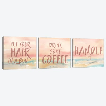 Put Your Hair Up Triptych Canvas Print Set #CYN3HSET001} by Cynthia Coulter Canvas Art