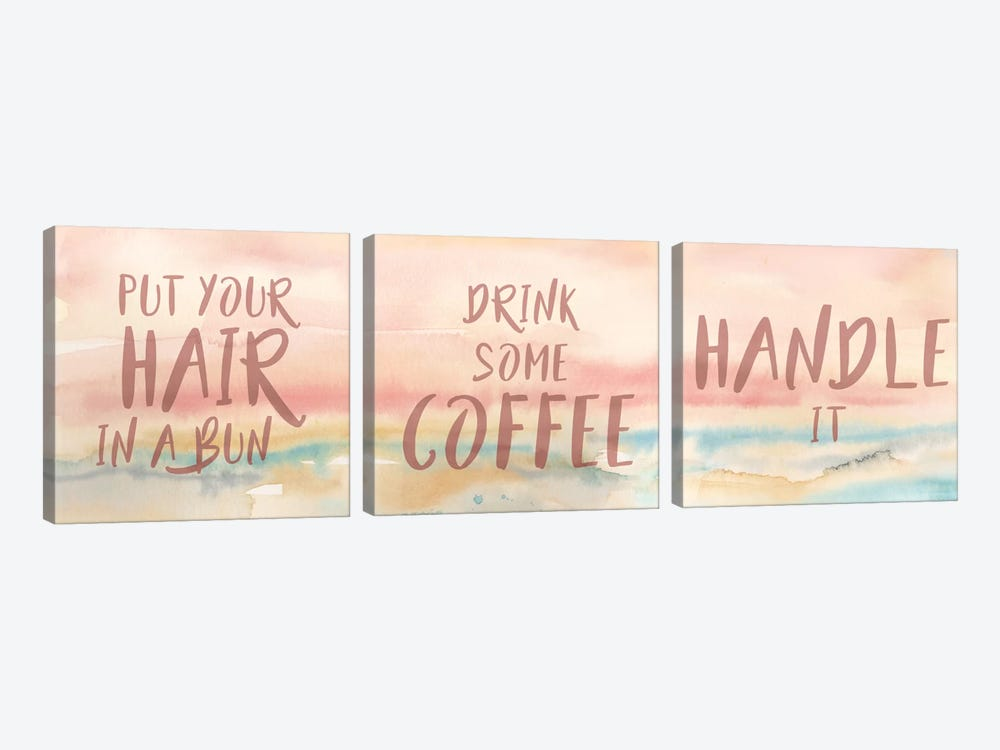 Put Your Hair Up Triptych by Cynthia Coulter 3-piece Canvas Wall Art