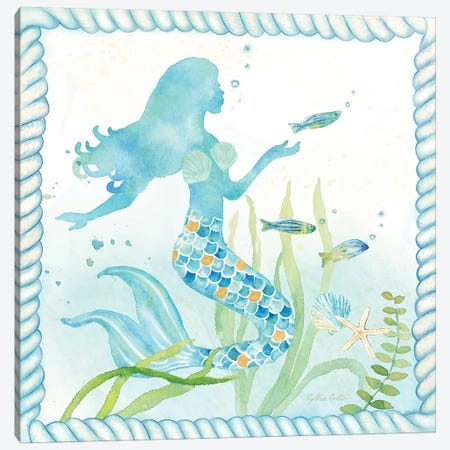 Mermaid Dreams III Canvas Print #CYN41} by Cynthia Coulter Canvas Wall Art