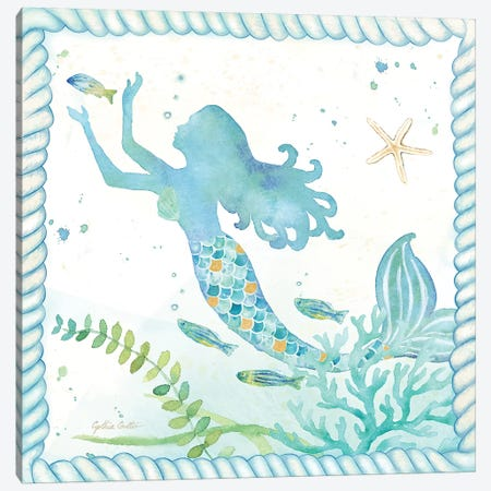 Mermaid Dreams IV Canvas Print #CYN42} by Cynthia Coulter Canvas Wall Art