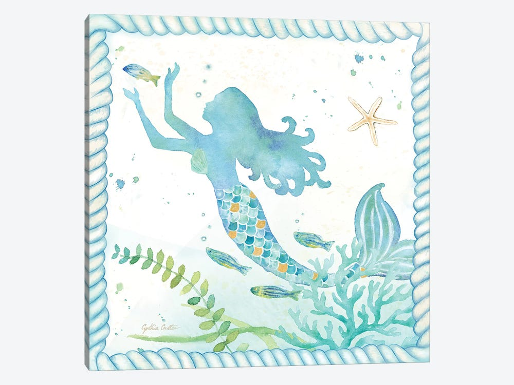 Mermaid Dreams IV by Cynthia Coulter 1-piece Canvas Print