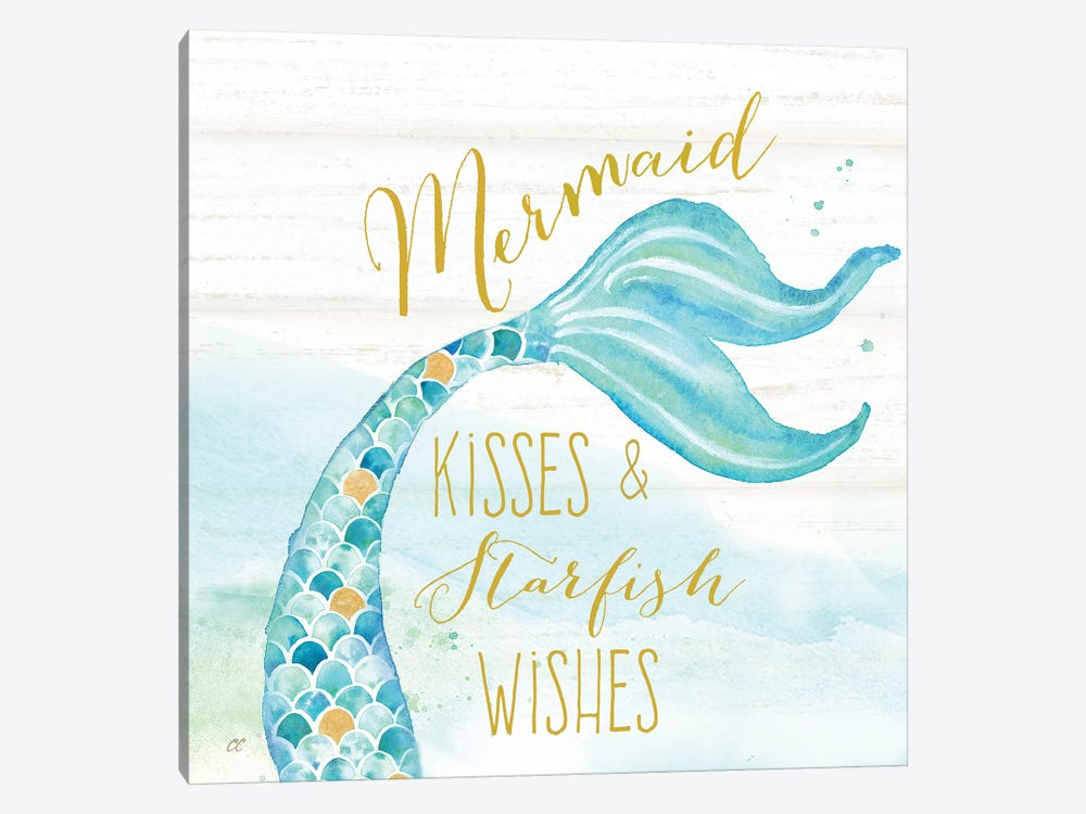 Mermaid Tale II 1-piece Canvas Art Print
