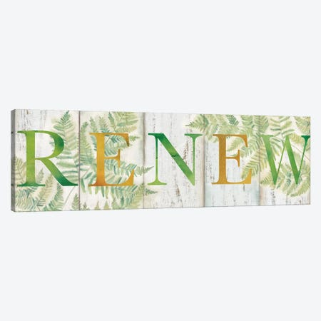 Renew Rustic Botanical Sign Canvas Print #CYN57} by Cynthia Coulter Canvas Art