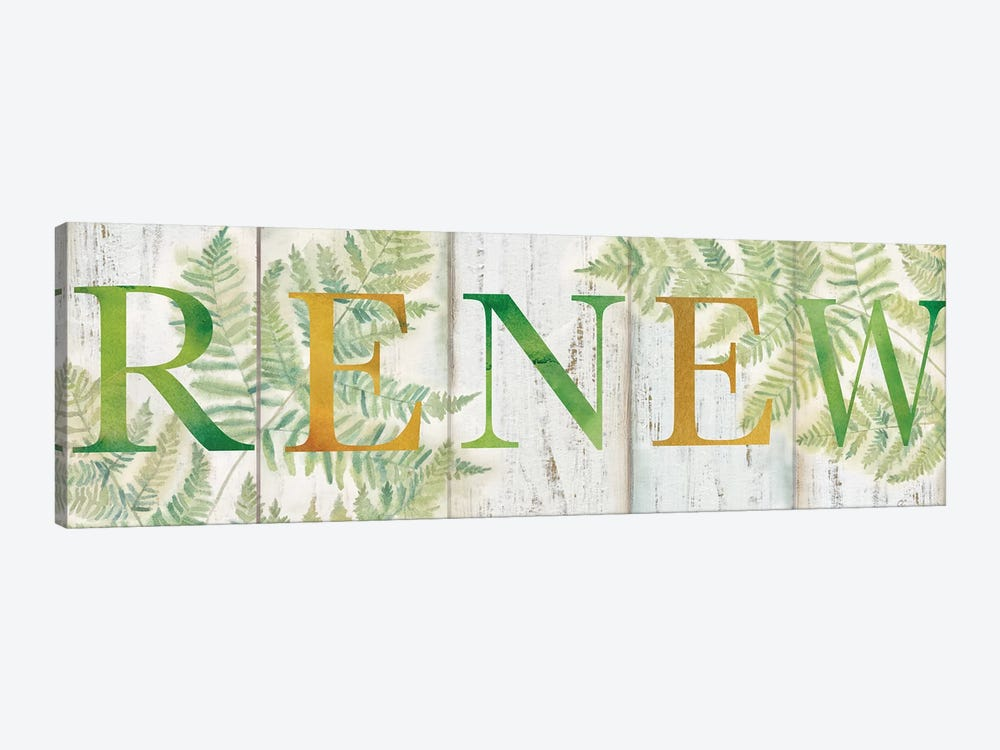 Renew Rustic Botanical Sign by Cynthia Coulter 1-piece Canvas Print