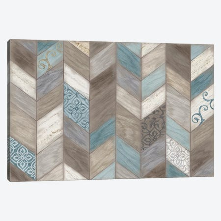 Rustic Chevron Neutral Canvas Print #CYN58} by Cynthia Coulter Canvas Art Print